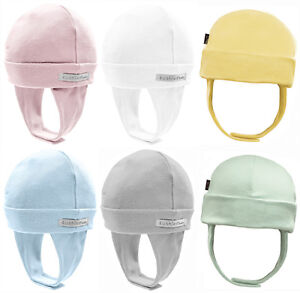 Kushies 100% Cotton Interlock Baby Boys or Girls Cap Hat with Ear Flap - 533524