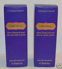 2 VICTORIA'S SECRET LOVE SPELL EDT EAU DE TOILETTE PERFUME BODY SPRAY MIST 1 OZ