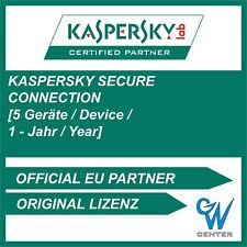 Kaspersky Secure Connection 2021 | 5 Geräte 1 Jahr | PC MAC ANDROID - VPN