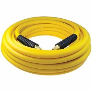 """Coilhose Pneumatics YB40504Y 1/4""""ID x 50' Yellow Belly Hybrid PVC Air Hose"""