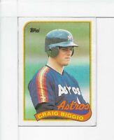 1989 TOPPS CRAIG BIGGIO HOUSTON ASTROS ROOKIE CARD