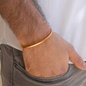 Fine Jewelry 22 Kt Hallmark Real Solid Yellow Gold Men'S Cuff Bracelet 15 Grams