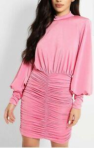 New Stunning Silkfred John Zack Size 12 Ruched Slinky Dress