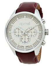 NEW WOMEN RIP CURL BAILEY A2741G CHRONO TAN LEATHER WRIST WATCH ANALOG DISPLAY