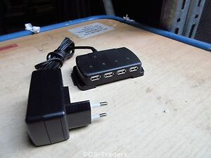 KENSINGTON K60723EU 4-PORT Laptop Notebook Stand USB 2.0 Hub - INCL EU PSU