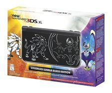Nintendo New 3DS XL Solgaleo Lunala Black Pokemon Sun Moon Editio System Console