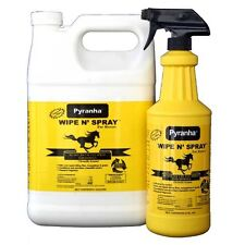 PYRANHA WIPE N SPRAY Protections from Flies Adds High Sheen to Horse Coat 32oz