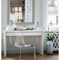 Dressing Table With Drawer Modern White Vanity Make Up Table Desk Ikea Malm