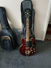 More details for electric guitar. epiphone riviera 93 wine red. maple body. semi hollow. 2018.