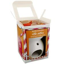 Little Hotties gingerbread man wax melts with white ceramic burner