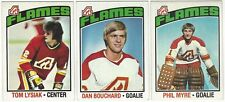10 1976-77 TOPPS HOCKEY ATLANTA FLAMES CARDS (LYSIAK/BOUCHARD/MYRE+++)