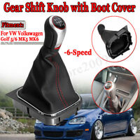 6 Speed Gear Knob Stick Shift Shifter Gaiter Gaitor Boot For VW Golf MK5 MK6