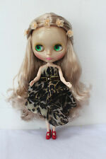Blythe Doll from factory Nude apricot part curly hair SD181  + Transparent skin
