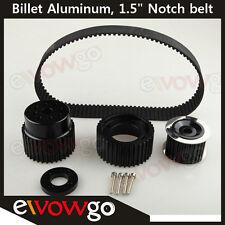 "For 12A 13B 20B 15mm RX7 FD FC RX3 Gilmer Drive Pulley Kit 1.5"" Notch Belt Black"