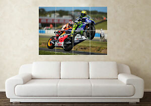 Large Valentino Rossi 2 Superbike Motorbike Racing Wall Poster Art Picture Print
