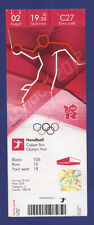 Orig.Ticket  Olympic Games LONDON 2012   //  HANDBALL  SERBIA - DENMARK  !!