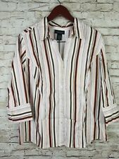 Lane Bryant Womens 18/20 Button Front Striped Shirt Top ( S6)