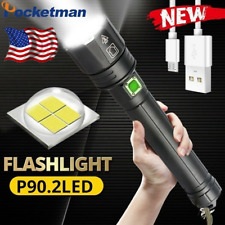 200000LM Ultra Bright XHP90.2 LED Flashlight Rechargeable 3Mode Zoom Torch 26650