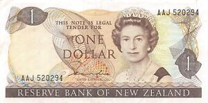 New Zealand  $1  ND. 1981  P 169a  Series AAJ Circulated Banknote LBMt