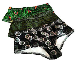3 Pants HIBSTER  Slips Damen Jersey größe M Digitaldruck  Handmade*Neu*