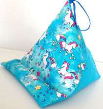 UNICORNS with GLITTER resting cushion pillow beanbag r for iPad Kindle Tablet
