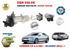 FOR CITROEN C5 2.0 HDI BLUEHDI 2011->NEW EXHAUST GAS EGR VALVE - WATER COOLED
