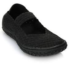 Corkys Women's Liz Woven Elastic Memory Gel Mary Jane Shoes in Black - 10