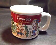 """CAMPBELL'S 1993 COLLECTIBLE GARDEN DESIGN CERAMIC SOUP MUG CUP 3 3/8"""" HIGH"""
