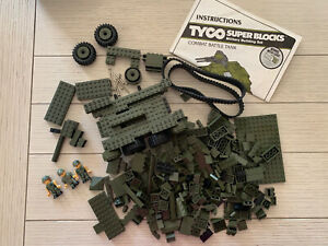 Tyco Super Blocks Combat Battle Military Tank Building Blocks Storage Case