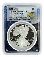 2011 W 1oz Silver Eagle Proof PCGS PR69 DCAM - Eagle Frame