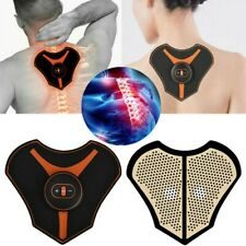 Mini Electric Neck Back Cervical Massager Pad EMS Muscle Stimulator Pain Relief