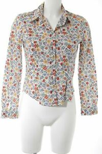 CACHAREL Blouse-chemisier motif de fleur Dames T 38 blanc cassé coton