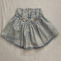 Vintage Jordache Acid Wash Denim Skirt Western Inspired Womens Size 11/12