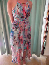 FLORAL SILK EVENING DRESS SIZE 4 - FOREVER NEW