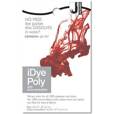 iDye POLY Crimson - For Polyester & Nylon Fabrics-  No Mess Packets 14g NEW