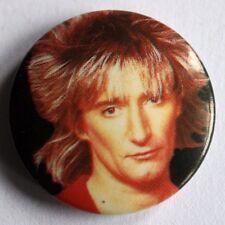 ROD STEWART Old VTG 1980`s Button Pin Badge(not shirt lp cd tour concert)