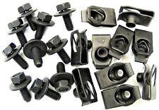 Honda Body Bolts & U-nut Clips- M6-1.0mm x 16mm Long- 10mm Hex- 20 pcs- #379