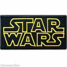 Star Wars Black Logo Classic Episode Movie Sew Embroidered Iron on Patches #0038