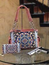 Western Montana West Aztec Collection Concealed Handgun Satchel+Matching Wallet