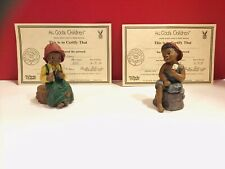 All God'S Children Le Prissy & Jerome Figurines By Martha Holcombe