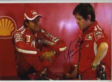 Luca Badoer Ferrari F1 Test Driver Retrato Firmado fotografía 4