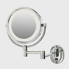 Jerdon Lighted Wall Makeup Mirror Magnifying Anti Fog Bath 10 X 14 Inch Chrome