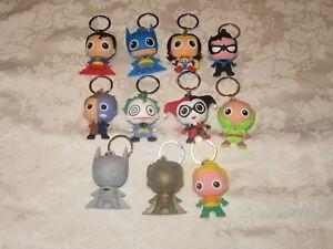 Monogram Figural Collectors 3D DC Comics Series 1 Set Lot of 11 Keyring Keychain