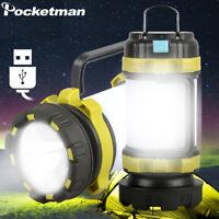 80000LM LED Camping Lantern Work Light Flashlight Torch Outdoor Emergency Light