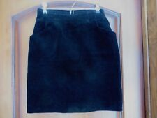 Women's Vintage Laura Ashley Black Corduroy Short Skirt Lined SZ 8 fits 2-4 Nice