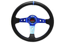 "13.5"" Steering Wheel For Polaris RZR Can-am Maverick Black / Blue Concave 3"""