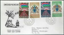 1965 GAMBIA FIRST DAY COVER - INDEPENDENCE COMBO - CACHETED!