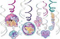 amscan Barbie Mermaid Hanging Swirl Decorations (12)