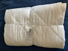 West Elm NWT Full/Queen Flannel Quilted Coverlet & 1 Standard Sham White