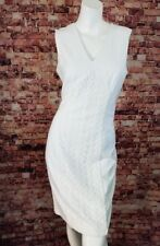 Calvin Klein White Embroidered Sheath Dress Size 6